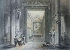 ROME ITALIE GRAVURE XIXe 19th TEMPLE DE JUPITER CAPITOLIN par DOHERTY ROMA