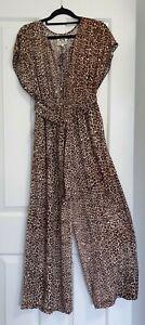 JAASE Vienna Chaser Jumpsuit - Leopard Print Wide leg. Size XS - see description