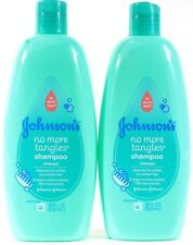 2 Johnson's 18 Oz No More Tears & Tangles Shampoo Cleanses For Soft Smooth Hair