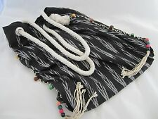 JADEtribe Beach Bag/Tote Black/White Print with Rope Handles