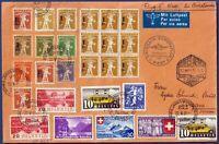 "1939 - Volo SWISSAIR ""Zurigo-Barcellona"" - catalogo SF 39.5f"