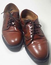 Original Quality Sz 6 Italian made brown leather derby shoes Vtg