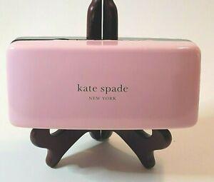 ~Kate Spade~ Pink & Green Hard Shell Eyeglass/Sunglasses Case Logo