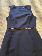 Miss Selfridge Midi Navy Work Dress Size 8