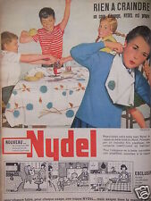 PUBLICITÉ 1960 NYDEL LA NAPPE EN BELLE TOILE DU NORD - ADVERTISING