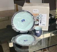 DENBY Peveril Blends 3 Piece Set (Dinner Plate, Mug, Salad Plate) Open Box