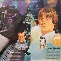 Darth Vader Luke Skywalker Posters Star Wars Burger King Coca-Cola 1977 1&2 of 4