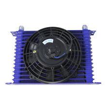 """universell 15row 10AN Ölkühler Motor Getriebe + 7 """" Electrisches Lüfter Set blau"""