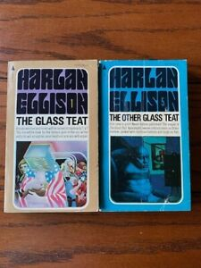SIGNED The Glass Teat & The Other Glass Teat HARLAN ELLISON 1st/1st Pyramid PB
