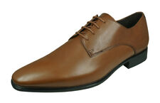 Geox U High Life B Mens Smooth Leather Shoes Wedding Work Brogues Cognac Brown