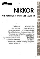 Nikkor AF-S DX 18-300mm F/3.5-5.6G Ed VR Linse Anleitung Handbuch -nikon DSLR