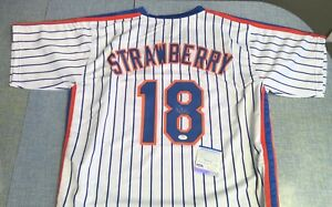 Darryl Strawberry Autographed New York Mets #18 Signed Custom Jersey PSA/DNA