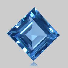 2.12Cts Elegant Natural Swizz Blue Topaz 6.8mm  Square Ring Size Loose Gemstone