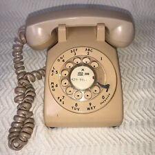Vintage 70s Bell System Western Electric 500DM Rotary Dial Telephone Phone Beige