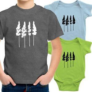 Pine Trees Toddler Kids Tee T-Shirt Infant Baby Bodysuit Gift Outdoor Adventure