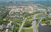 NY Buffalo STATE UNIVERSITY COLLEGE OF EDUCATION Aerial 1959-64 postcard B44