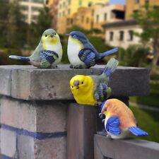 4 pièces Set artificielle OISEAUX EMULATION animaux maison balcon jardin