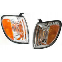 For Toyota Tundra Turn Signal Light 2000-2004 LH & RH Side Pair/Set Amber Lens