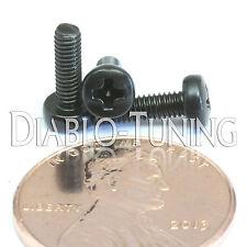 M2.5 x 8mm - Qty 10 - Phillips Pan Head Machine Screws - DIN 7985 A  Black Steel