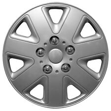 "Streetwize Hurricane 14 Inch Wheel Trim Set Silver Set of 4 Hub Caps Covers 14"""