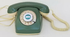 VINTAGE ROTARY DIAL GREEN SIEMENS TELEPHONE