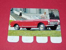 N°11 PEUGEOT 404 CABRIOLET PLAQUE METAL COOP 1964 AUTOMOBILE A TRAVERS AGES