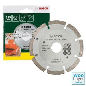 Bosch 115mm Diamond Cutting Disc / Blade - For Construction Material