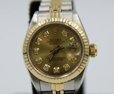 """Rolex 69173 Two-Tone Oyster Prepetual Day Just Ladies Watch 1980""""s"""