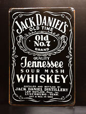JACK DANIEL`S BLACK LABEL VINTAGE STYLE METAL WALL SIGN  20X30 TENNESSEE