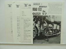 Cycle World And Motorcyclist Road Test Guzzi V-7 Literature Sport Twin L7973