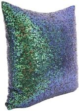 """Sequins Decorative Square Pillow Case Cover 18""""x18"""" Turquoise blue/green"""