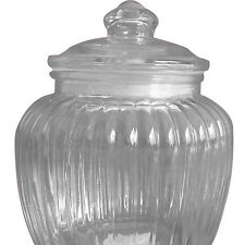 Glass Candy Jar Vintage look storage rubber seal sweets jelly beans venue 14cm