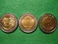 Italy Vatican San Marino 3 x 500 Lire 1992 1996 gem BU