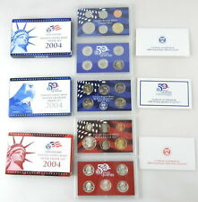 2004 United States Mint SILVER - 50 STATE QUARTER - PROOF SET w/ COA's ~ C15