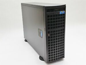 Supermicro 7046GT-TRF Tower Server 2* Xeon E5520 2.27GHz 48GB NO CADDY 9650SE