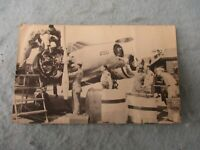 WWII AAF Photo Post Card AT7 Airplane Navigator Training School Hondo Texas WW2