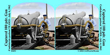 USS Teaser boat Gun Cannon Artillery Civil War SV Stereoview Stereocard 3D 01053