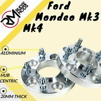 Ford Mondeo Mk3 Mk4 5x108 20mm Hubcentric wheel spacers 1 pair UK MADE