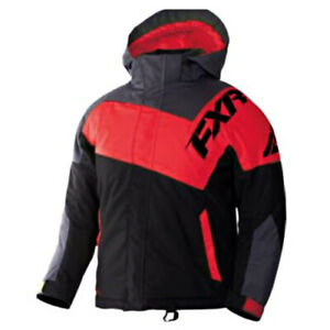 FXR™ Child Squadron Red/Charcoal/Black Insulated Snowmobile Jacket 170407-1020-