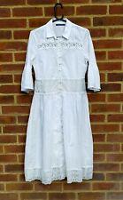 M&S Collection White Cotton Prairie Dress Lace Detail Boho Bloggers 10 Trend