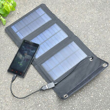 Portable 5W Power Bank Pack Foldable Solar Panel USB Charger For Mobile Phone