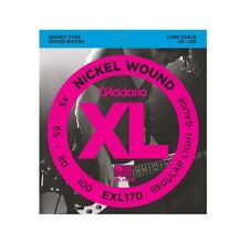 D'Addario EXL170 Nickel Wound Electric Bass Strings, Light, Long Scale, 45-100