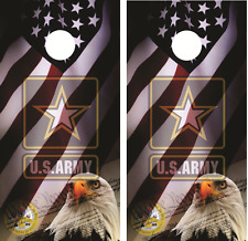 U.S. Army american eagle Cornhole Board Skin Wrap Decal Set with Lamination