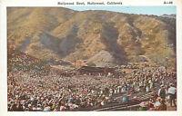OLD DB Postcard AH B632 Hollywood Bowl Hollywood California Birds Eye View