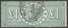 GREAT BRITAIN #124 Used VF - 1891 £1 Green