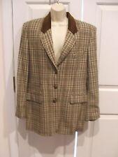new in pkg Spiegel sage/brown plaid Jacket Blazer size 10