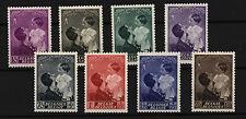 Belgium 1937 , Sc B189-B196 , Mint Hinged