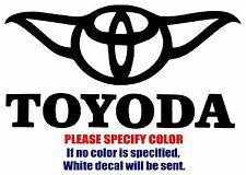 "TOYODA Toyota Funny Graphic Die Cut decal sticker Car Truck Boat Window 7"""