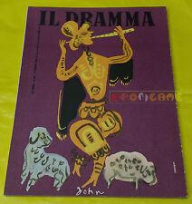 IL DRAMMA 1950 n. 110 - Copertina Emanuele Luzzati - Opere: vedi inserzione
