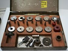 Punch set for stamping press